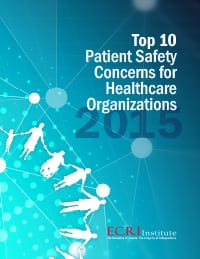 Alarm Hazards and Patient Violence Among ECRI's 2015 Patient Safety Concerns