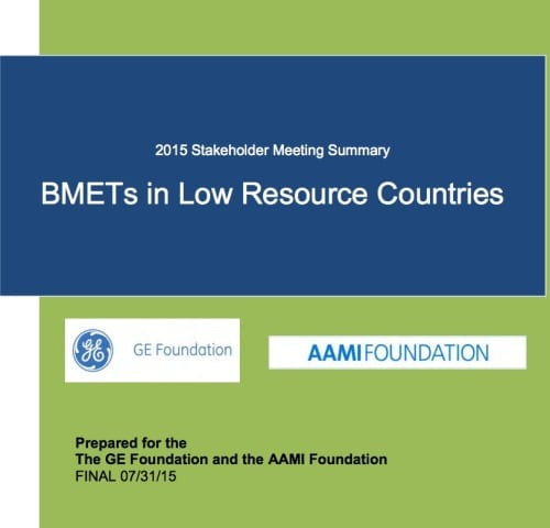 Report Recommends Training BMETs in Low-Resource Countries