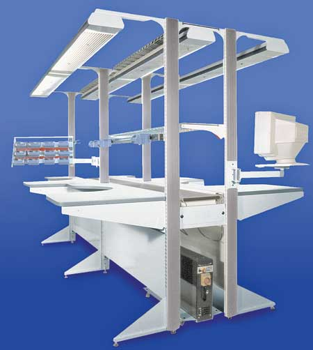 Modular Technical Workstation Updated with Lighting and Power Features