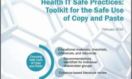 Health IT Partnership Releases First Toolkit on Safe Use of Copy/Paste