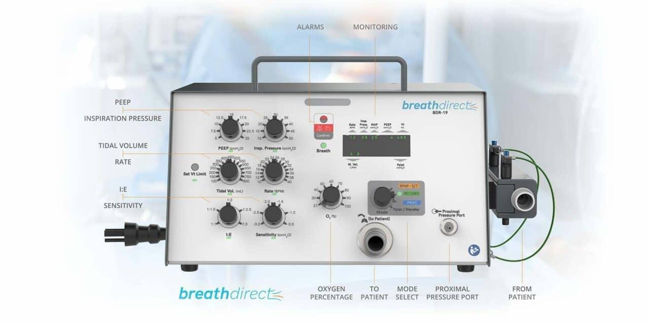 BreathDirect's BDR-19 Critical Care Ventilator Gets FDA EUA