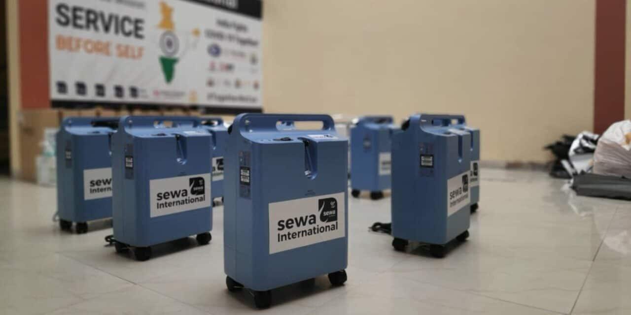 Sewa International Distributes Almost 6,000 Oxygen Concentrators Across India